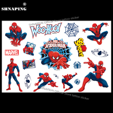 SHNAPIGN Ultimate Spidey Toy Child Temporary Tattoo Body Art Flash Tattoo Stickers 17x10cm Waterproof Fake Styling Sticker