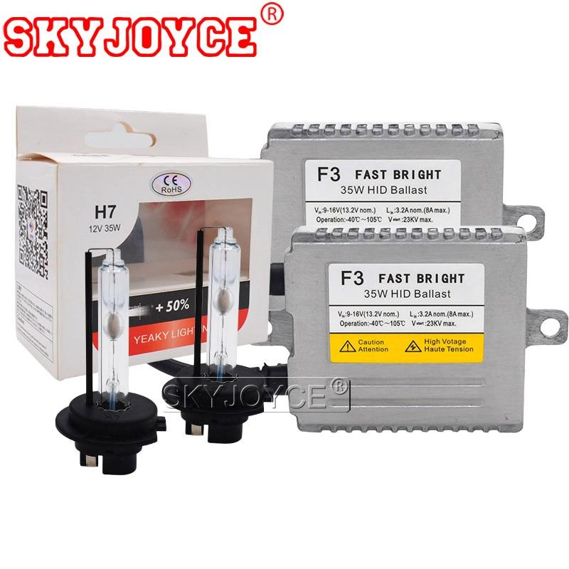 SKYJOYCE Original 35W Yeaky HID Bulb DLT F3 Fast Bright Ballast Kit 4500K 5500K 6500K Xenon H1 H7 H11 HB3 HB4 D2H Yeaky HID Kit