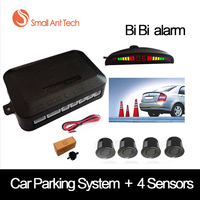 Universal Car LED Bi Bi Alarm Parking Sensor With 4 Sensors Cars Sensor Reverse Assistance Backup