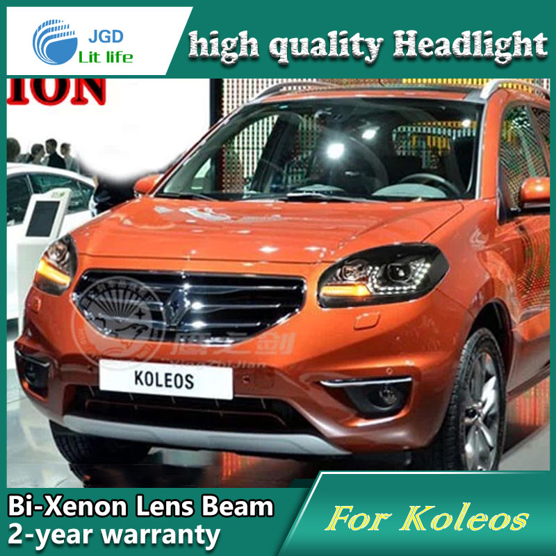 Car Styling Head Lamp case for Renault Koleos 2012-2014 Headlights LED Headlight DRL Lens Double Beam Bi-Xenon HID Accessories akd car styling for nissan teana led headlights 2008 2012 altima led headlight led drl bi xenon lens high low beam parking
