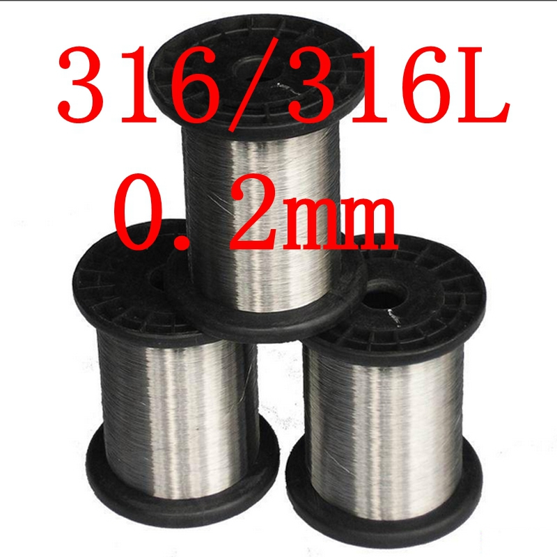 0.2mm,316/316L Soft Stainless Steel  Wire,33 gauge/0.2mm SS Seaworthy Thread 3mm 7 7 stainless steel 316 wire rope 7x7 strand core seaworthy marine grade