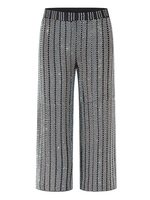 New Flash heavy duty hot stamping seven pants stripe design high waist trousers.