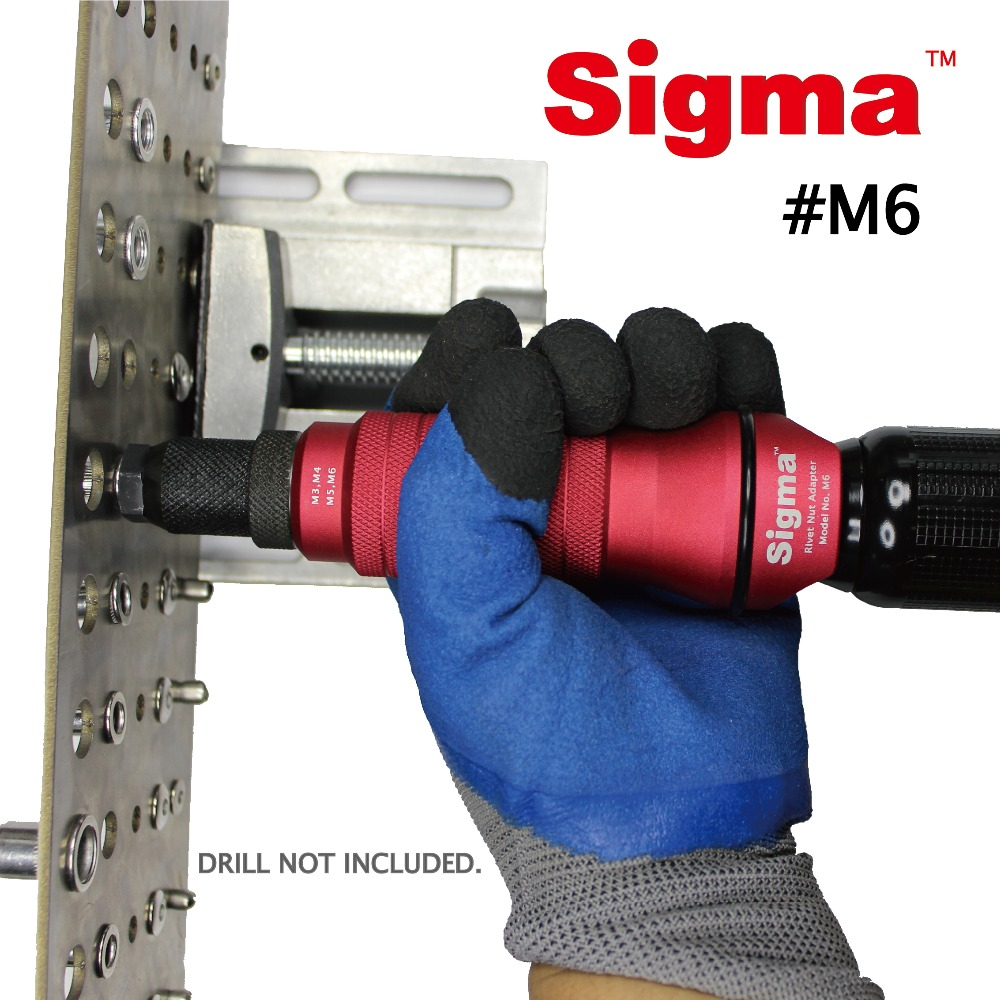 M3 M4 M5 M6 Taladro inal/ámbrico Adaptador de Tuerca de Remache Pistola el/éctrica de la bater/ía del Remache del Taladro de remachar DSENIW QIDOFAN Broca Adaptador Herramienta de Tuerca de Remache