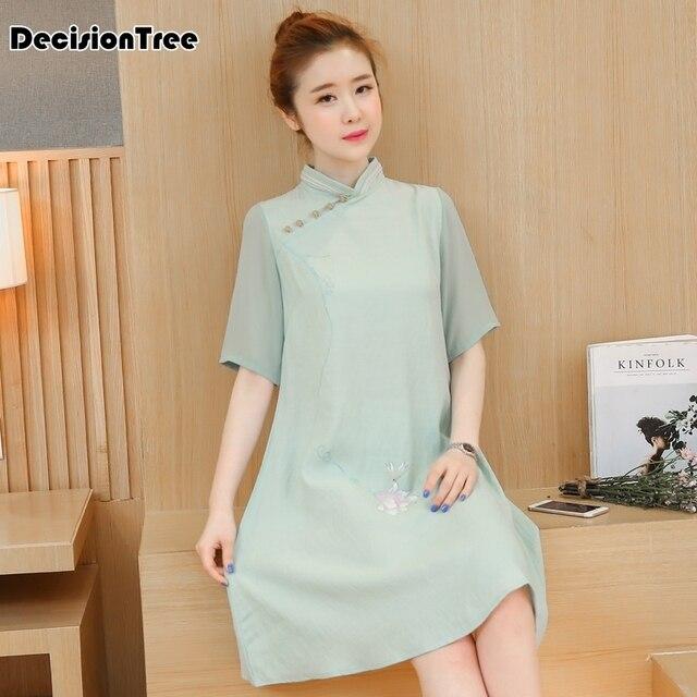33c1eb6de87672 Meilleur achat 2019 été rétro traditionnel chinois vêtements robe ...