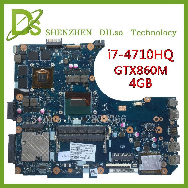 Kefu N551JM для ASUS N551JM Материнская плата ноутбука i7-4710HQ G551JM новая материнская плата GTX860m 100% тестирование