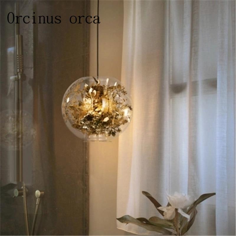 Nordic modern simple living room chandelier creative bedroom dream warm glass chandelier   Postage free|Pendant Lights| |  - title=