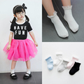 2017 New Spring Summer Baby Girls Cotton Double needle Short Socks Kids Lace Edge Socks Princess Style C355