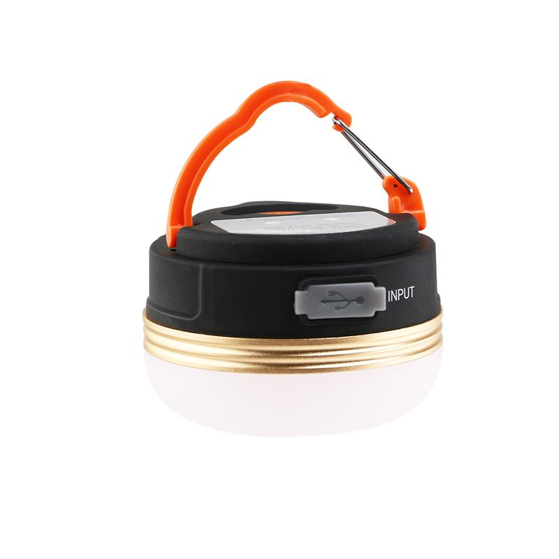 Outdoor LED Camping Lantern LED Tent Light Waterproof Rechargeable Camping Lamp Support Charging From USB With Hanging Hook