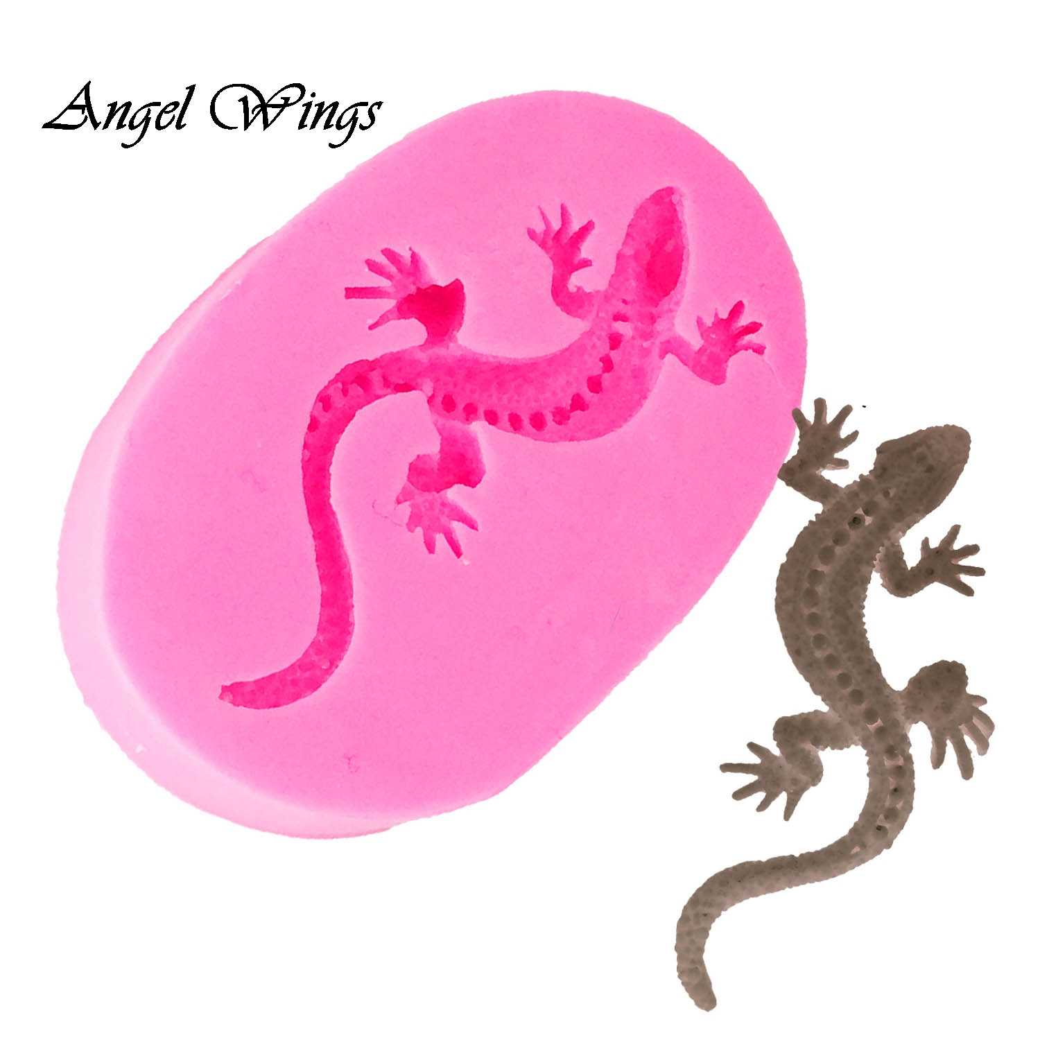 DIY gecko shape Silicone Molds snake Fondant Cake Decorating Tools Gumpaste Sugar Paste Candy Chocolate Molds DY0028