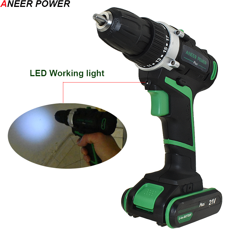 Image 5 - 21v Power Tools Double Speed Hand Electric Drill Cordless Drill Battery Drill Electric Screwdriver Mini Drilling 45 N/M Torque-in Electric Drills from Tools on
