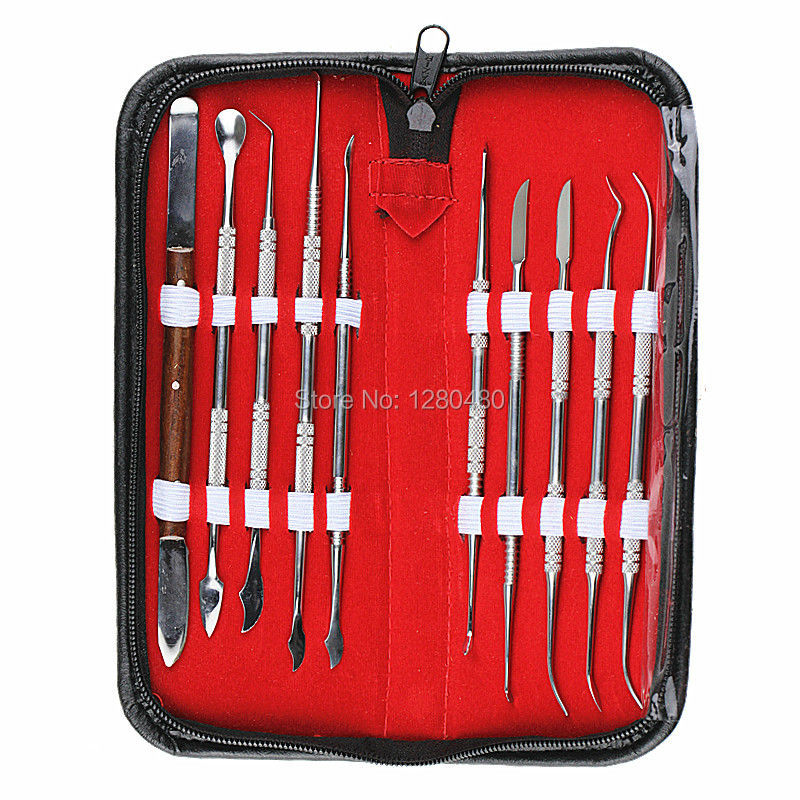 High Quality Dental Lab Equipments Wax Carving Tools Set Surgical Dentist Sculpture Knife Instruments Tool Kit Free Shipping