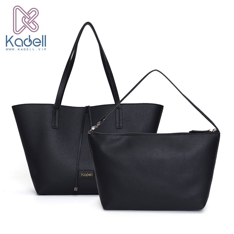 Kadell 2Pcs/Sets Luxury Handbags Women Bags Designer Bolsa Feminina Famous Brands Female Tote Bag Ladies Leather Shoulder Bags kadell new luxury brand bag women leather handbags matte pu leather ladies tote bolsa vintage messenger crossbody shoulder bags