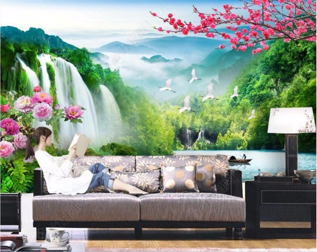 3d Wall Murals Wallpaper For Walls 3 D Wallpaper Chinese