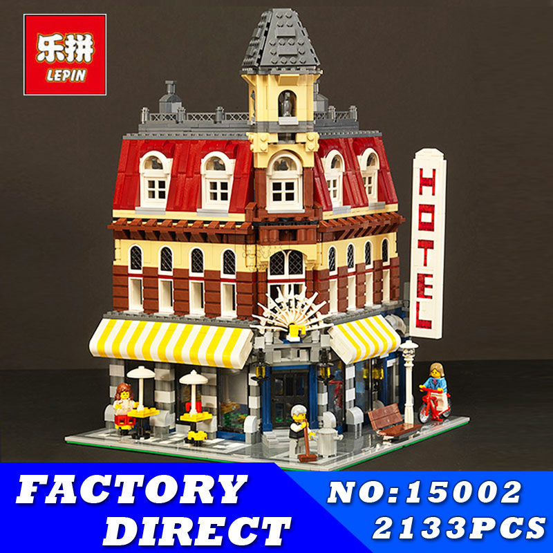 LEPIN 15002 15010 15001 15005 15012 Creators Cafe Corner Brinquedo City Street Building Blocks Bricks Kits Toy for Children Gift конструктор lepin creators магазинчик на углу 3 в 1 491 дет 24007
