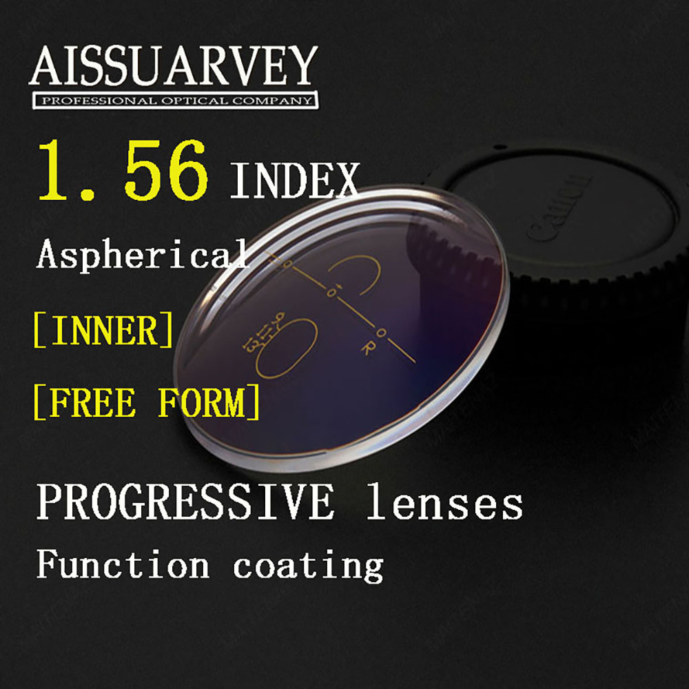 1 56 Index Aspherical Free Form Progressive Clear Lenses Anti Glare Multifocal Bofical Top Quality Thin