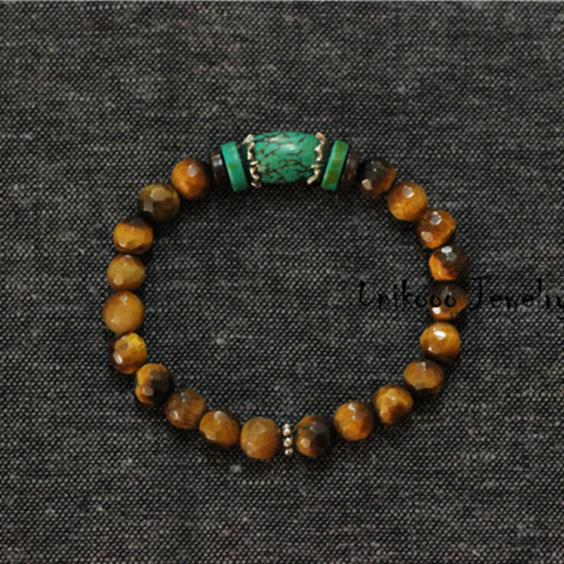 Tiger eye Natural Stone Bracelet for Men 925 Sterling Silver Accesories Mens Bracelets Silver 925 Jewelry