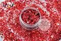 HA2104-262 Holográfica Láser Mixta Colores Vino Tinto Forma Hexagonal Glitter Lentejuelas para uñas de gel de arte y decoración DE La Navidad DIY