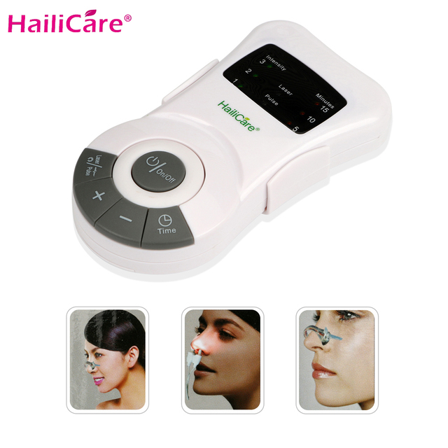 New Nose Care Rhinitis Therapy Allergy Reliever Low Frequency Laser Nasal Congestion Sinusitis Snoring Treatment Device Massager