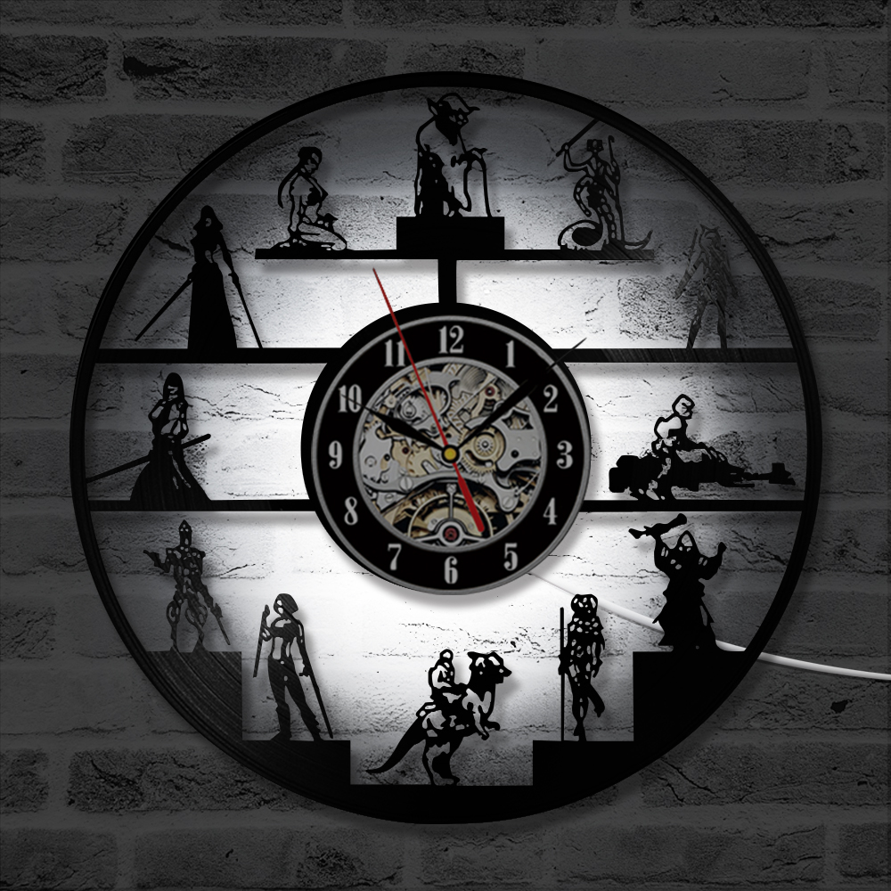 hight resolution of star wars wall clock modern design led vinyl record clocks with backlight creative classic cartoon cd wall watch art home decor in wall clocks from home