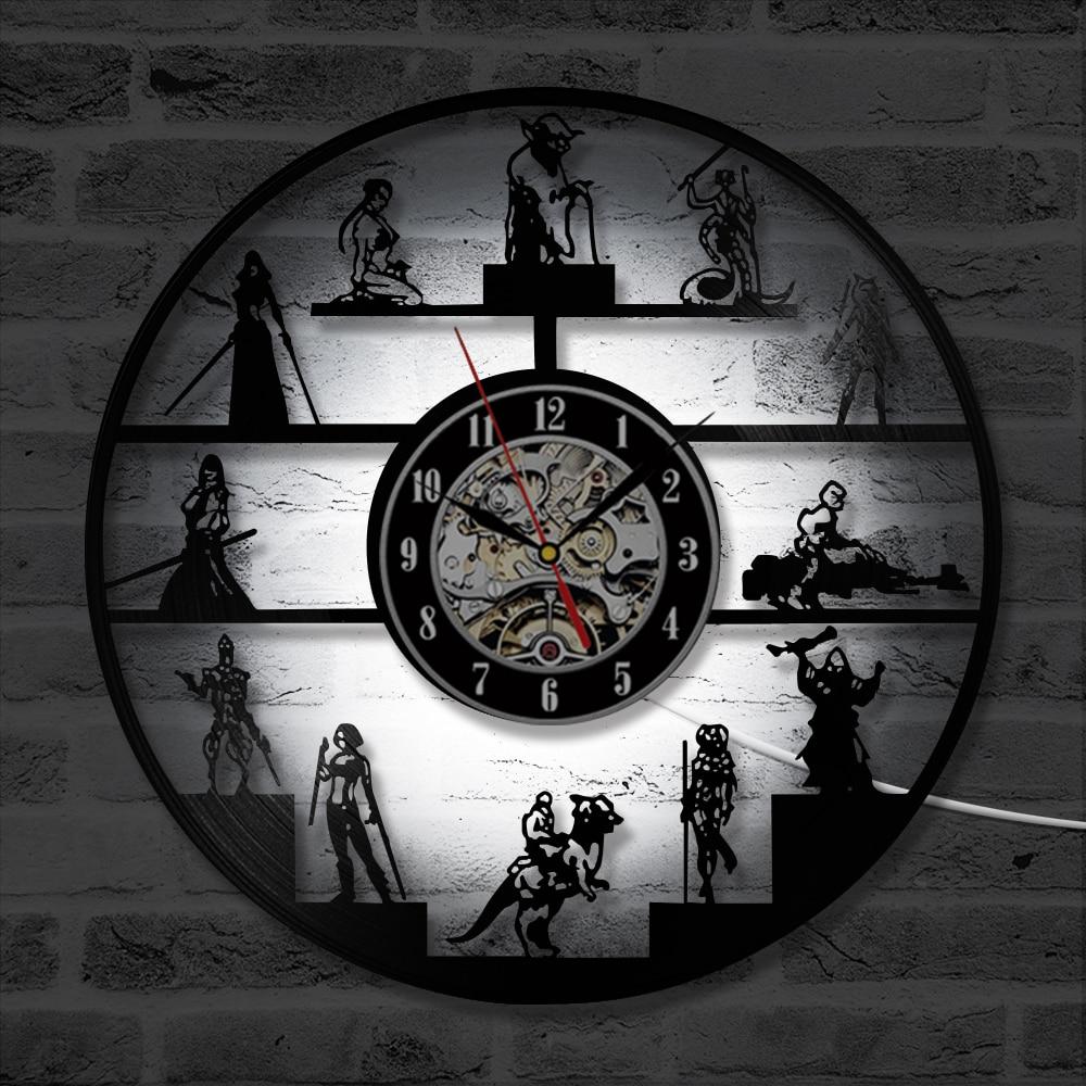 star wars wall clock modern design led vinyl record clocks with backlight creative classic cartoon cd wall watch art home decor in wall clocks from home  [ 1000 x 1000 Pixel ]