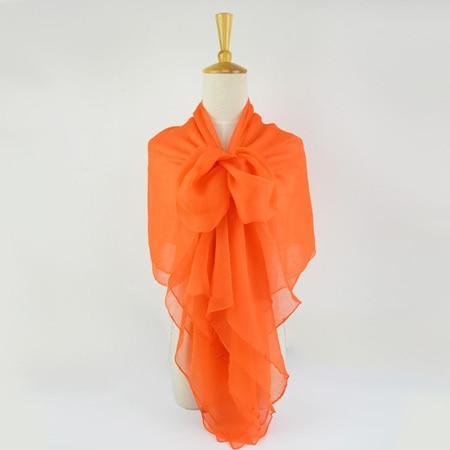 Жатый шелк жоржетовый длинный шарф 110 см X 180 см Чистый шелковый шарф женский однотонный цвет изделия из шифона в большом размере шарф - Цвет: 06