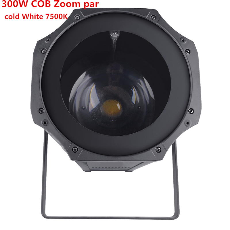 LED Zoom 5-50 Degree 300W  Led COB  Par Light 7500K Cold White  RGBW 4in1 Stage Disco Light Led Par 64