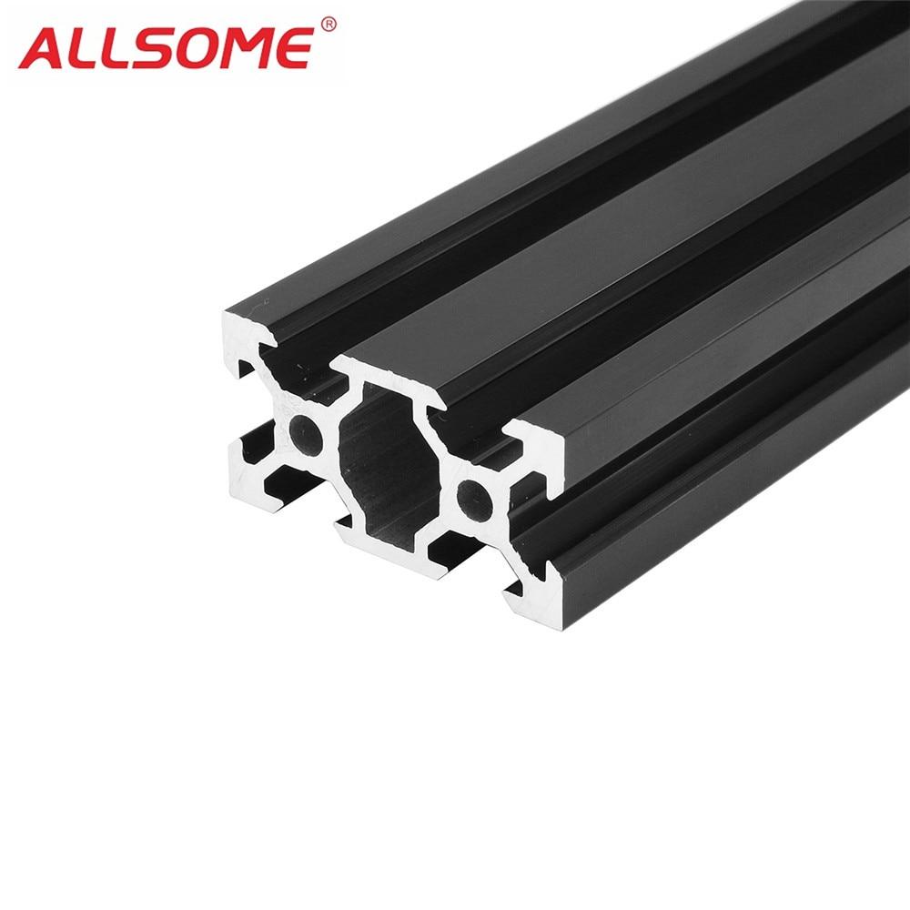 ALLSOME 500mm 2020 2040 2080 V-Slot Aluminum Profile Extrusion Frame DIY CNC Tool 3D Printers Plasma Lasers Stands Furniture
