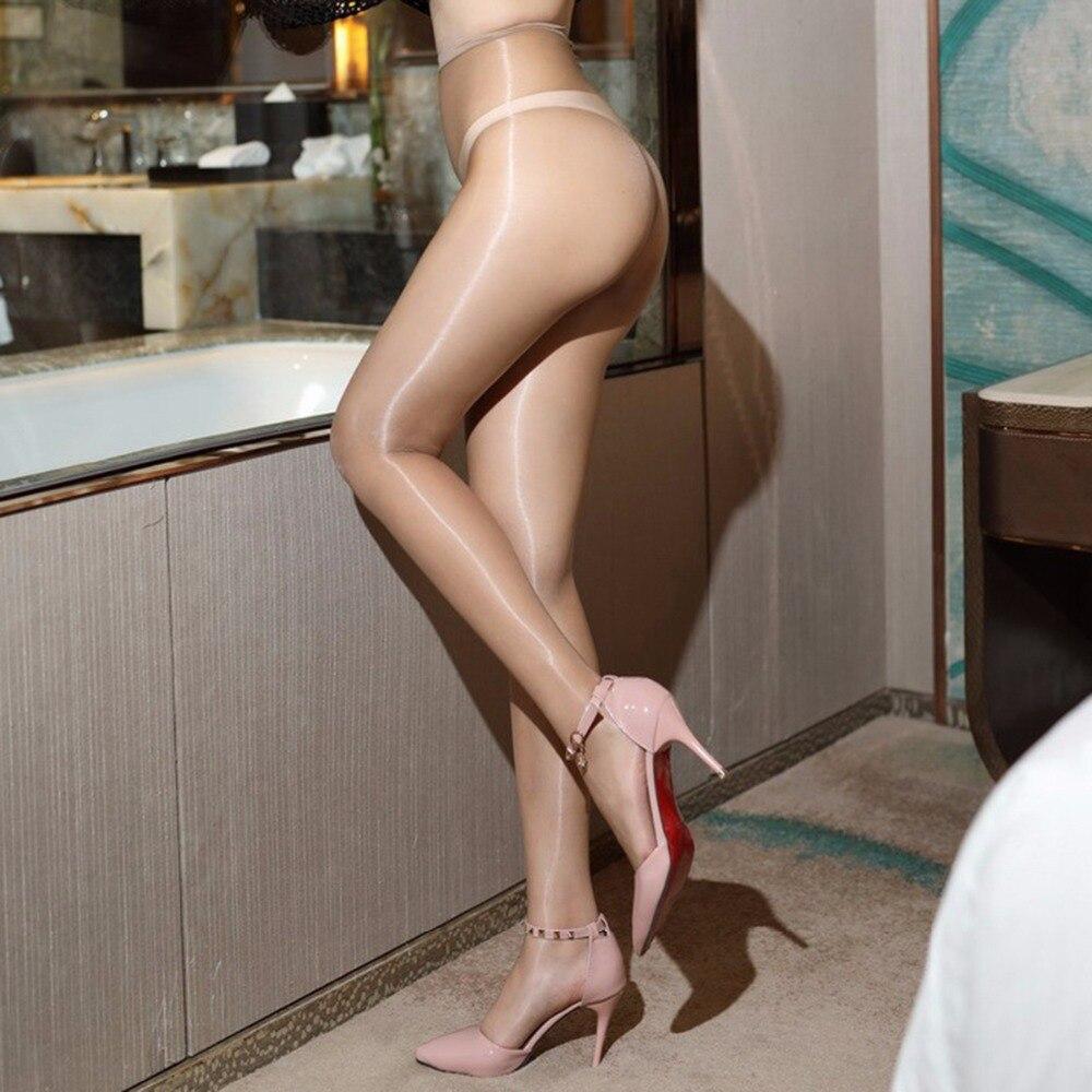 Buy Sexy Women Glitter Tights 1D Ultra Thin Oil Shiny Pantyhose Transparent Collant Femme Pantimedias Mujer Temptation Hosiery