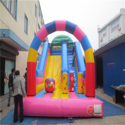 commercial inflatable font b bouncers b font inflatable slide playground with CE UL blower YLW 179