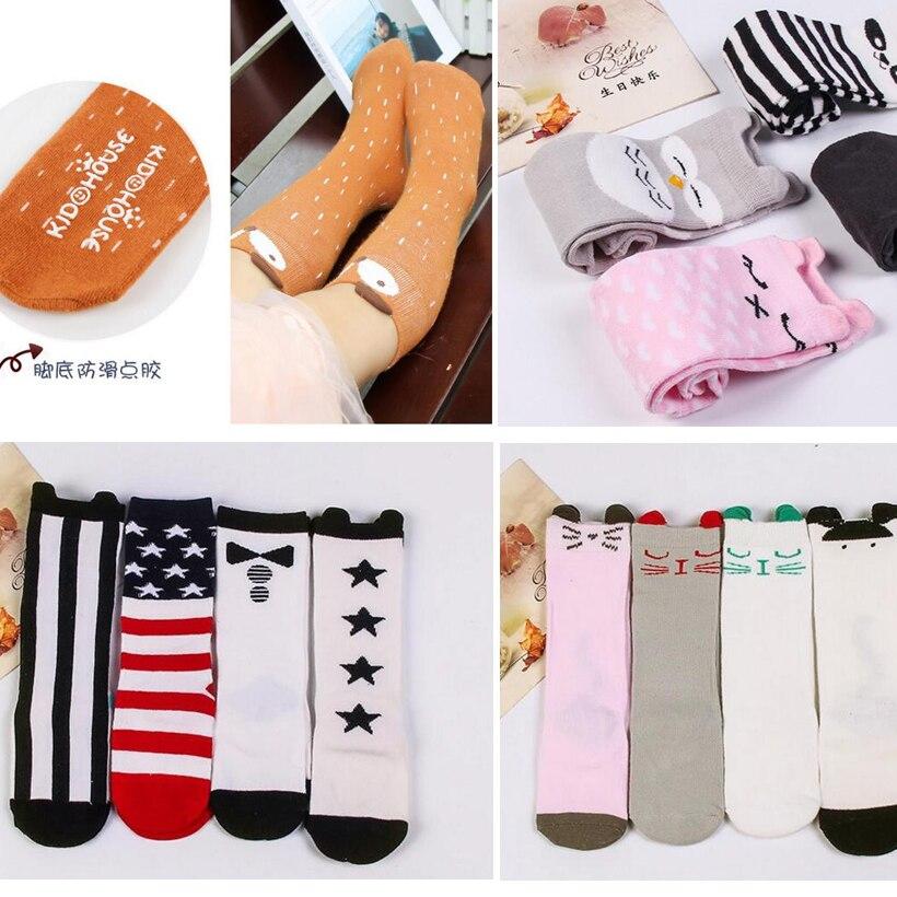 Kids Fox Socks Knee High Toddler Sock Anti Slip Socks Girl Collant Fille Children Cartoon Girl Knee High Sock