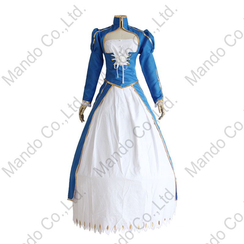 Anime Fate stay night saber Cosplay Costume Grils Fancy Dress Women Halloween Cosplay Party Outfit