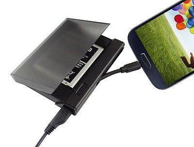 Black Battery Charger Dock Charger Station Cradle Charging for Samsung Galaxy S4 i9500 i9505