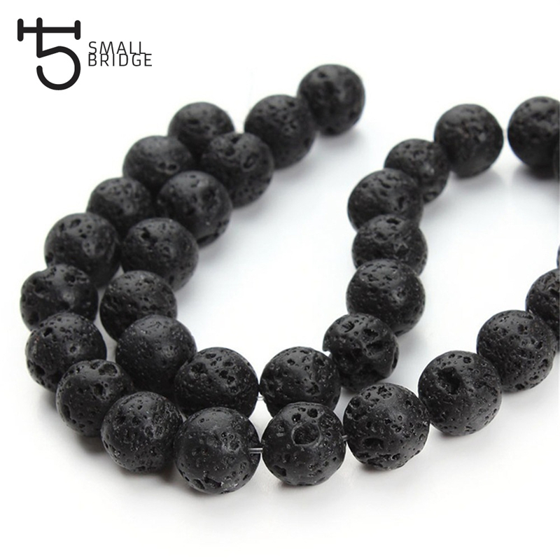 Beads Jewelry & Accessories Shop For Cheap 1pack Essential Oil Natural Lava Rock Stone Beads Diy Making Necklace Bracelet White Black Natural Volcanic-stone Beads Jewelry
