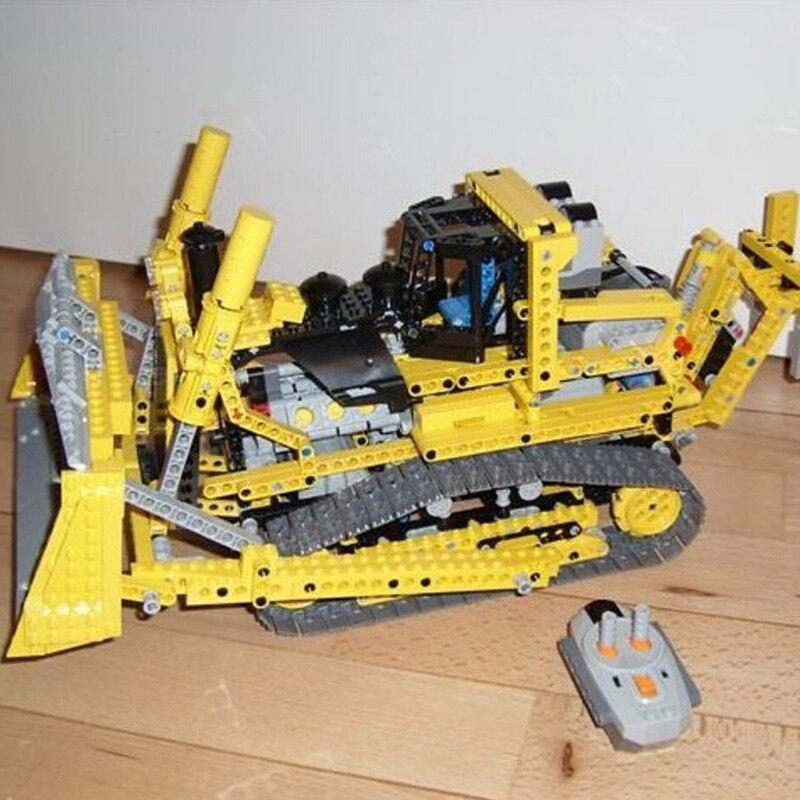 Lepin 20008 1384PCS Motorized Bulldozer Technic Series Model Building Blocks Bricks Kits Toys For Children Compatible 8275 цена