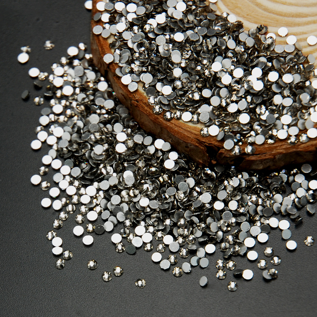 SS3-SS30 Black Diamond Color Glass Non Hotfix Flatback Rhinestone Nail  Rhinestones For Nails 3D Nail Art Decoration Gems ae96ef8fda9f