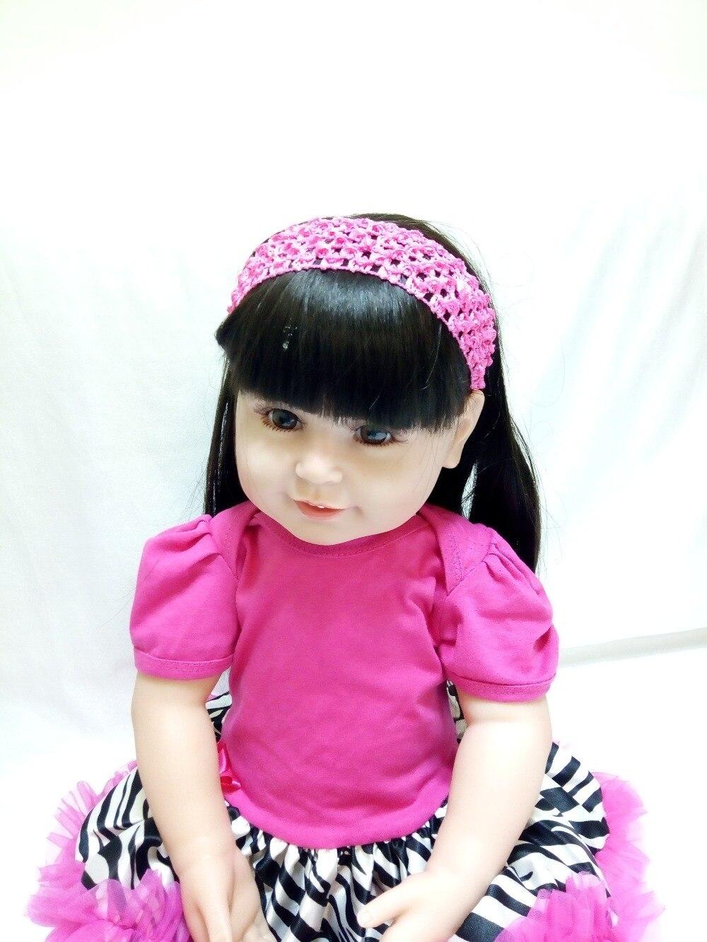 Muñecas de bebés renacidos de silicona rosa vestido de vinilo rojo - Muñecas y accesorios - foto 3