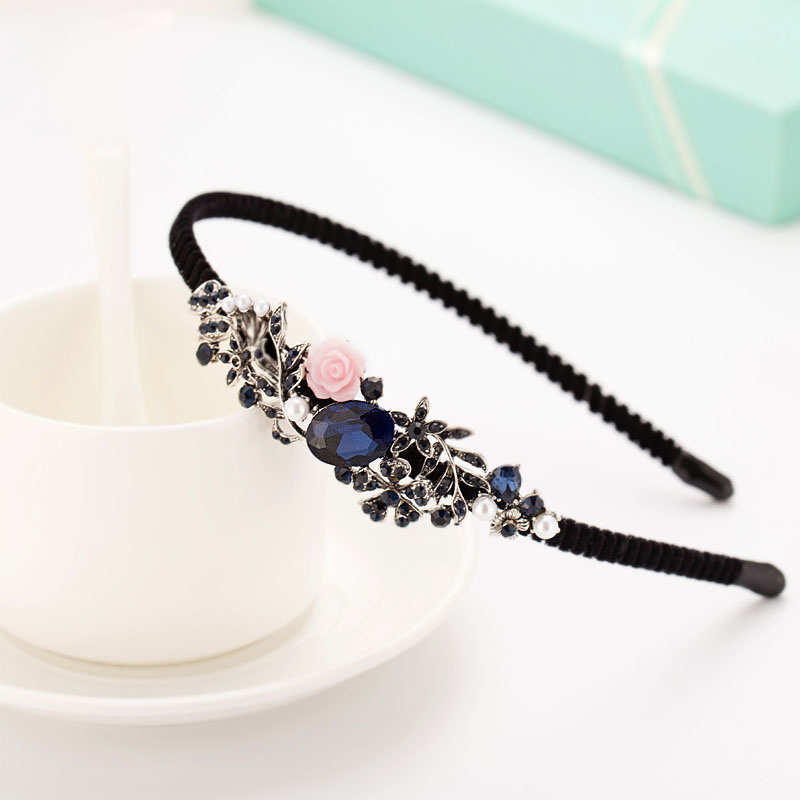Fashion Antique Bow Headbands jewelry Butterfly Decorated Accessories For Women Blue New Year Girls Hair Hoops Gift simple fashion hdtv amplified indoor digital tv aerial with high gain hdtv 50 miles reception range home use