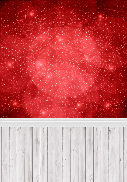 8 ft x 10 ft Vinyl red bokeh photography backdrops fabric printing for photo studio wood floor background F-423
