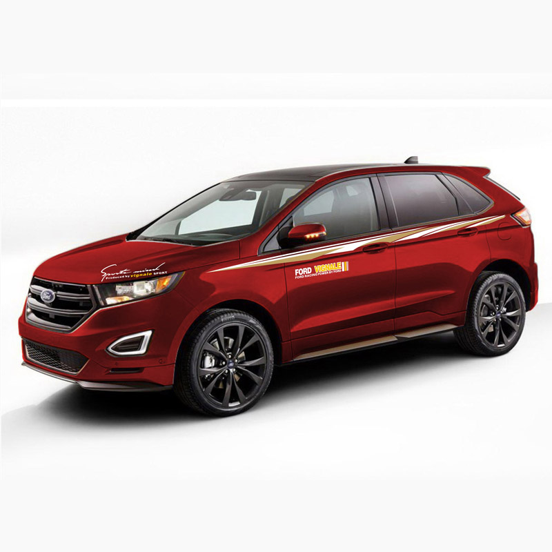 TAIYAO car styling sport car sticker For Ford 2013 2018 edge car accessories and decals auto sticker in Car Stickers from Automobiles Motorcycles