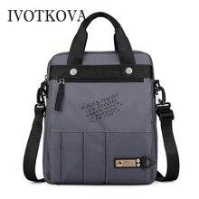 IVOTKOVA Nylon Men Messenger Bags High Quality Satchel Shoulder Male Laptop Briefcase Travel Handbag New Sport Bag