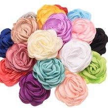 10 шт. цветы для завивки 5,5 см модные аксессуары для волос аксессуары для самостоятельного изготовления Эксклюзивное свадебное украшение цветок без заколки для волос бант для волос