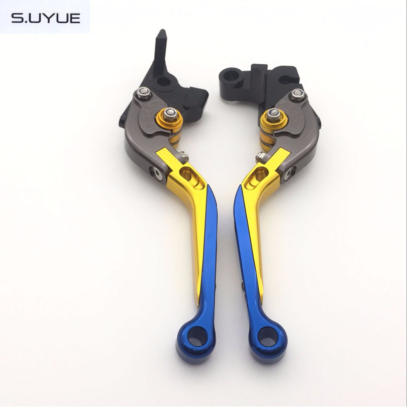 ФОТО S.UYUE For YAMAHA R1  2009-2014 Motorcycle Accessories Folding Extendable Brake Clutch Levers Free Shipping