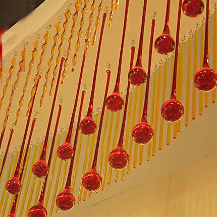 6 шт 20x80 мм Люстра потолочная лампа освещения висит капля кулон кристалл DIY жизни для спальни, дома декор + свободные кольца