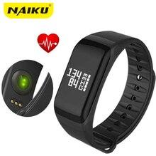 Naiku фитнес-трекер Браслет монитор сердечного ритма Смарт F1 SmartBand артериального давления с Шагомер Браслет