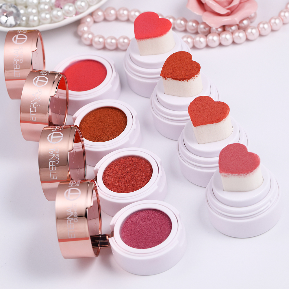 O.TWO.O 4pcs/set Air Cushion Blush Shimmer Effect Natural Long Lasting Waterproof Makeup Kit For WholesaleBlush   -