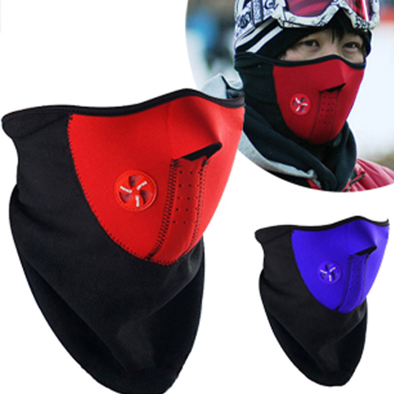 100 pcs Windproof sport face mask Cycling mask dustproof half face mask bike cap motorcycle running ski masks warm hat Outdoors