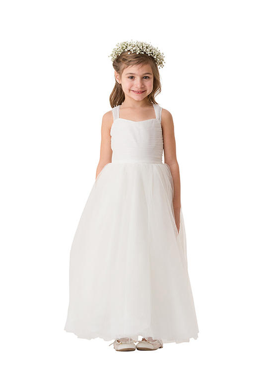 White Flower Girls Dresses For Wedding Gowns Tulle Glitz Pageant Dresses for Little Girls A-Line Mother Daughter Dresses custom champagne beaded a line flower girl dresses beautiful mother and daughter glitz gowns for wedding pageant party occasion