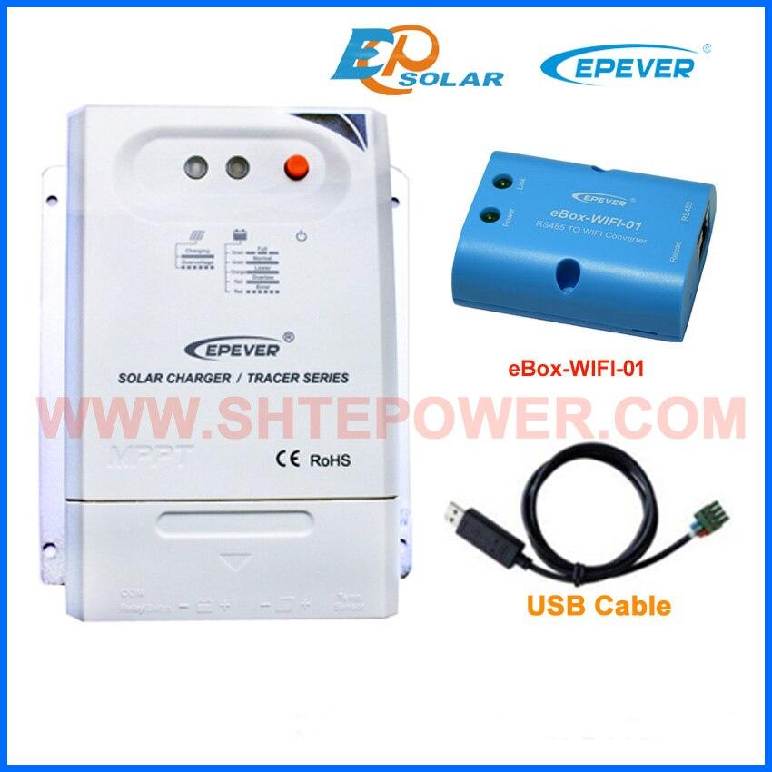 USB kommunikation kabel PC verbinden solar 20A ladegerät mppt EPEVER controller wifi BOX eBOX Wifi 01 EPsolar 20A Tracer2210CN