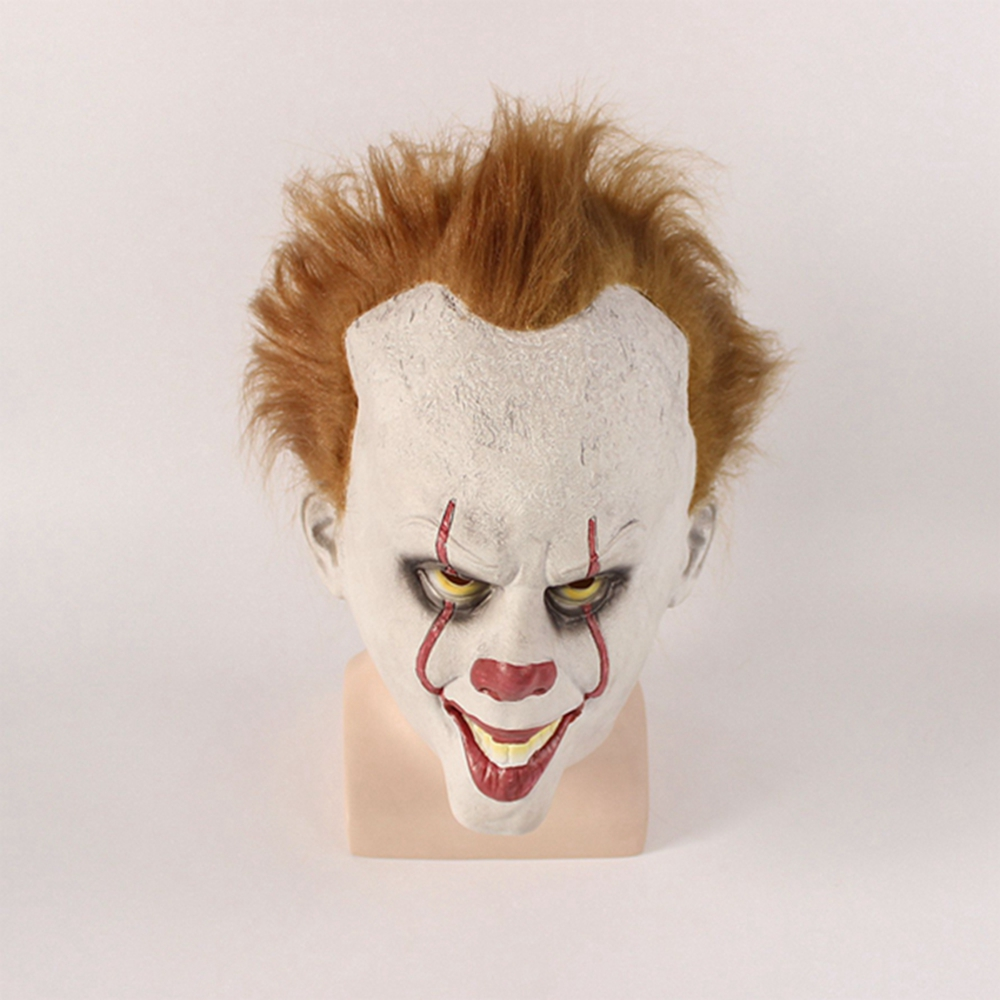 Movie Stephen King's It Pennywise Mask Adult Latex Halloween Scary Mask Cosplay Clown Party Mask Party Props