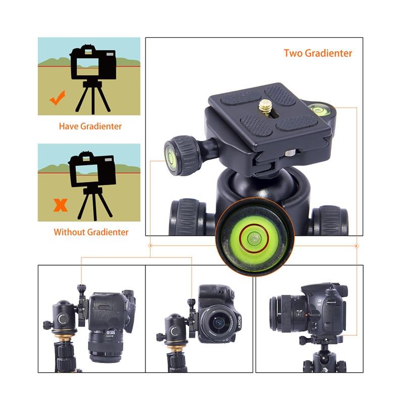 beike BK-03 kaamera statiivi kuulipea kiire vabastusplaadiga 1/4 - Kaamera ja foto - Foto 4